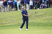 Jon Rahm (ESP) on the 1st fairway during Round 3 of the Open de Espana 2018 at Centro Nacional de Golf on Saturday 14th April 2018.<br /> Picture:  Thos Caffrey / www.golffile.ie<br /> <br /> All photo usage must carry mandatory copyright credit (&copy; Golffile | Thos Caffrey)