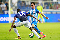 Malaga CF's Juanpi Anor (r) and SS Lazio's Wallace during XXXIII Costa del Sol Trophy. August 5,2017. (ALTERPHOTOS/Acero) /NortePhoto.com