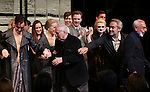 Alan Cumming, Linda Emond, John Kander, Bill Heck, Gayle Rankin, Sam Mendes and Joe Masteroff during the Broadway Opening Night Performance Curtain Call for 'Cabaret' at Studio 54 on April 24, 2014 in New York City.