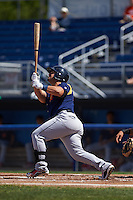 State College Spikes outfielder Orlando Olivera (34) at bat aduring a game against the Batavia Muckdogs August 23, 2015 at Dwyer Stadium in Batavia, New York.  State College defeated Batavia 8-2.  (Mike Janes/Four Seam Images)