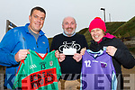 Ian Blake Beale GAA and Trish Byrne Ballybunion Wildcats receiving sponsorship from Donnacha Kendlin studykerry.com at the Drop ball event held in Ballybunion on Monday.