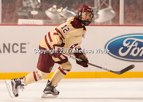 Kenzie Kent (BC - 12) - The Boston College Eagles defeated the Harvard University Crimson 3-1 on Tuesday, January 10, 2017, at Fenway Park in Boston, Massachusetts.The Boston College Eagles defeated the Harvard University Crimson 3-1 on Tuesday, January 10, 2017, at Fenway Park.