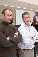 Nicolas Martin and  Francois Chidaine owner domaine f chidaine montlouis loire france