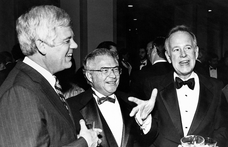Rep. Jim McDermott, D-Wash. and former Rep. Lloyd Meeds, D-Wash. and Sen. Brock Adams, D-Wash. December 18, 1988. (Photo by Andrea Mohin/CQ Roll Call)