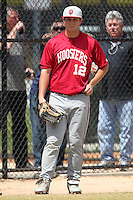 Indiana Hoosiers Alex Dickerson #12 during a game vs UMass at Lake Myrtle Main Field in Auburndale, Florida;  March 16, 2011.  Indiana defeated UMass 11-10.  Photo By Mike Janes/Four Seam Images