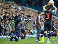 Leeds United manager Marcelo Bielsa watches on during the first half<br /> <br /> Photographer Alex Dodd/CameraSport<br /> <br /> The Carabao Cup Second Round- Leeds United v Stoke City - Tuesday 27th August 2019  - Elland Road - Leeds<br />  <br /> World Copyright © 2019 CameraSport. All rights reserved. 43 Linden Ave. Countesthorpe. Leicester. England. LE8 5PG - Tel: +44 (0) 116 277 4147 - admin@camerasport.com - www.camerasport.com