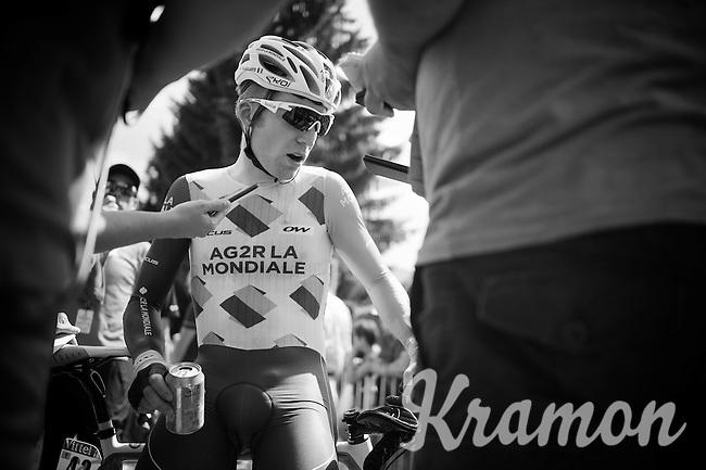 post-finish interviews for Jan Bakelants (BEL/Ag2r-LaMondiale)<br /> <br /> Stage 18 (ITT) - Sallanches › Megève (17km)<br /> 103rd Tour de France 2016