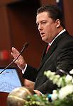 Nevada Assembly Speaker John Oceguera, D-Las Vegas, speaks on the Assembly floor at the Legislature in Carson City, Nev. on Monday, Feb. 7, 2011..Photo by Cathleen Allison