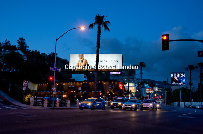 Fashion billboard on the Sunset Strip in Los Angeles