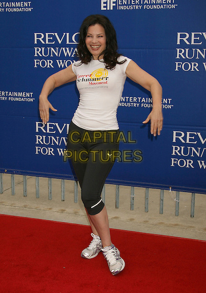 FRAN DRESCHER.14th Annual Entertainment Industry Foundation Revlon Run/Walk For Women held at The Los Angeles Memorial Coliseum, Los Angeles, California, USA,.12 May 2007..full length trainers hands arms funny sporty black white .CAP/ADM/RE.©Russ Elliot/AdMedia/Capital Pictures.