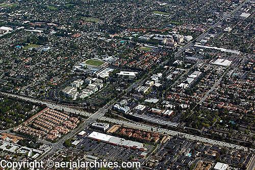 aerial photograph Apple Computer, Cupertino, Santa Clara county, California