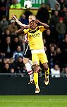 Nederland, Eindhoven, 31 maart 2012.Eredivisie.Seizoen 2011-2012.PSV-VVV 2-0.Timothy Derijck van PSV in duel om de bal met Michael Uchebo van VVV
