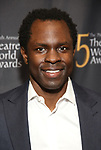 Gbenga Akinnagbe attends the 75th Annual Theatre World Awards at The Neil simon Theatre  on June 3, 2019  in New York City.