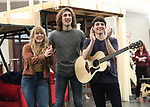 """Erika Olson, Conor Ryan and Jonny Amies during the Sneak Peak presentation of the World Premiere production of """"My Very Own British Invasion"""" on January 16, 2019 at the Church of Saint Paul The Apostle in New York City."""