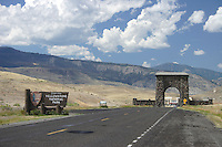 Roosevelt Arch North Entrance to Yellowstone National Park