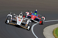 Verizon IndyCar Series<br /> Indianapolis 500 Carb Day<br /> Indianapolis Motor Speedway, Indianapolis, IN USA<br /> Friday 26 May 2017<br /> Helio Castroneves, Team Penske Chevrolet, Conor Daly, A.J. Foyt Enterprises Chevrolet<br /> World Copyright: F. Peirce Williams