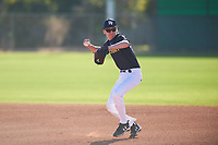 Miles Winter (46), from Bothell, Washington, while playing for the Padres during the Under Armour Baseball Factory Recruiting Classic at Gene Autry Park on December 27, 2017 in Mesa, Arizona. (Zachary Lucy/Four Seam Images)