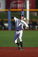 First overall draft pick in the 2015 Major League Baseball Player Draft, Dansby Swanson (7) of the Hillsboro Hops throws between innings of a game against the Boise Hawks at Ron Tonkin Field on August 21, 2015 in Hillsboro, Oregon. Boise defeated Hillsboro, 7-1. (Larry Goren/Four Seam Images)
