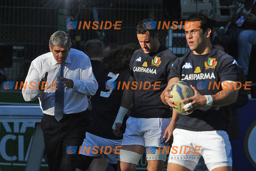 Nick Mallett, allenatore dell'Italia.<br /> Italia vs Irlanda<br /> Six Nations Rugby<br /> Stadio Flaminio, Roma, 05/02/2011<br /> Photo Antonietta Baldassarre Insidefoto