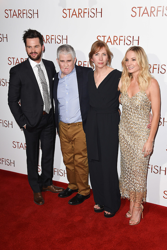"Tom Riley, Tom Ray, Nicola Ray and Joanne Froggatt<br /> at the ""Starfish"" UK premiere, Curzon Mayfair, London.<br /> <br /> <br /> ©Ash Knotek  D3190  27/10/2016"