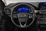 Car pictures of steering wheel view of a 2020 Ford Escape Titanium 5 Door SUV Steering Wheel