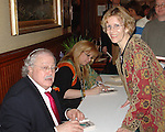 Meeting forensics crime author at Murder Mystery Weekend at Mohonk Mountain House, New Paltz, New York, USA, on March 2006