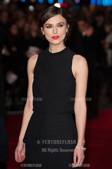 Keira Knightley arriving for the UK Premiere of Jack Ryan, at Vue Leicester Square, London. 20/01/2014 Picture by: Dave Norton/ Featureflash