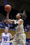 29 January 2017: Wake Forest's Ariel Stephenson (25). The Duke University Blue Devils hosted the Old Dominion University Monarchs at Cameron Indoor Stadium in Durham, North Carolina in a 2016-17 Division I Women's Basketball game. Duke won the game 71-43.