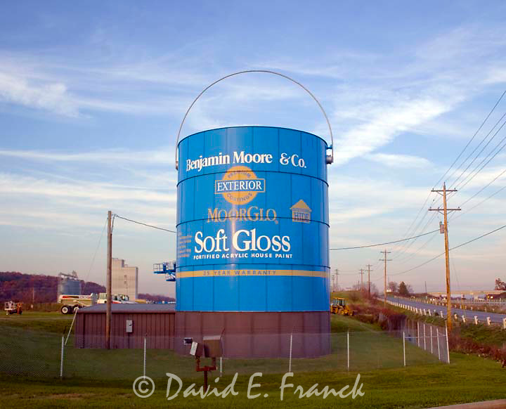 Giant can of paint in Shippensburg Pennsylvania