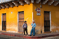 Antigua, Guatemala, March 2012. Antigua is a city in the central highlands of Guatemala situated under the Agua volcano famous for its well-preserved Spanish Mudéjar-influenced Baroque architecture as well as a number of spectacular ruins of colonial churches. The old center is filled with boutique hotels, restaurants and shops with local products.  It has been designated a UNESCO World Heritage Site. Guatemala is a great country to experiencce the Mayan lifestyle and see the ruins of ancient cultures. Photo by Frits Meyst/Adventure4ever.com