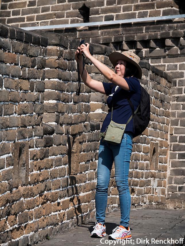 Gro&szlig;e Mauer bei Mutianyu, Peking, China, Asien, UNESCO-Weltkulturerbe<br />  Great Wall at Mutianyu, China, Asia, world heritage