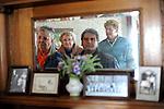 Visitors tour the home of former U.S. President Ronald Reagan in Dixon, Illinois on October 26, 2008.