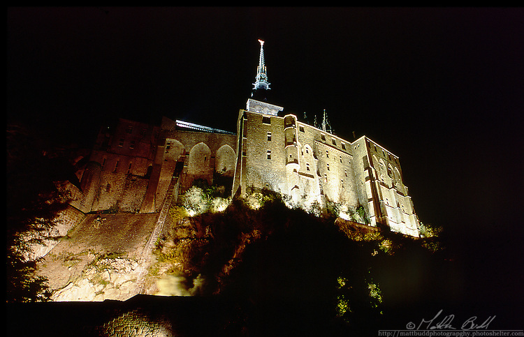 Night time at Mont Saint Michel, France