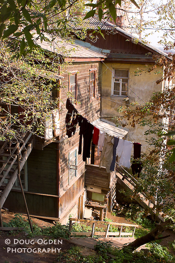 Laundry day at a russian home, Vladivostok, Russia