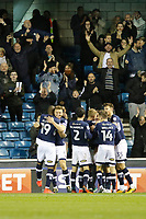 GOAL - Ryan Tunnicliffe of Millwall is congratulated during the Sky Bet Championship match between Millwall and Birmingham City at The Den, London, England on 21 October 2017. Photo by Carlton Myrie.