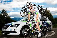 Picture by Alex Whitehead/SWpix.com - 14/07/2017 - Cycling - Le Tour de France - Stage 13, Saint-Girons to Foix - Dan McLay summits the Mur de Peguere.