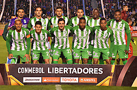 LA PAZ - BOLIVIA, 05-04-2018: Jugadores del Nacional posan para una foto previo al partido entre Bolívar de Bolivia y Atlético Nacional de Colombia por la fecha 3, Grupo B, de la Copa CONMEBOL Libertadores 2018  jugado en el estadio Hernando Siles de la Ciudad de La Paz. / Players of Nacional pose to a photo prior the match between Bolívar of  Bolivia and Atletico Nacional of Colombia for the date 3, Group B, of the Copa CONMEBOL Libertadores 2018 played at Hernando Siles stadium in La Paz city. Photo: APG / VizzorImage / Daniel Miranda