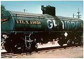 3/4 view of UTLX 11050 GRAMPS tank car.<br /> D&amp;RGW