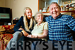 Patrick Cassidy who had a Cataract operation in Belfast on Sunday pictured with his wife Betty and his granddaughter Grace Murphy.