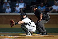 at David F. Couch Ballpark on April 18, 2019 in  Winston-Salem, North Carolina. The Demon Deacons defeated the Wolfpack 7-3. (Brian Westerholt/Four Seam Images)