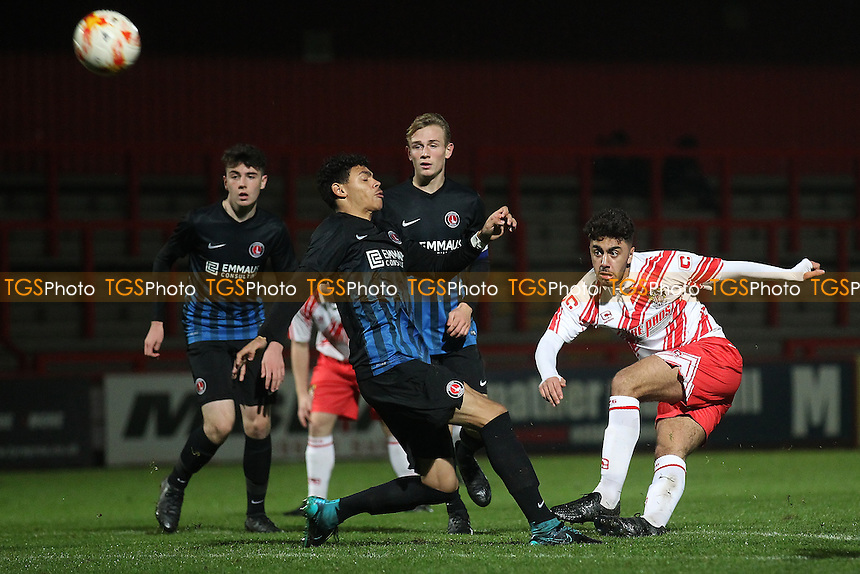 Andronicus Georgiou of Stevenage goes close to a goal during Stevenage Youth vs Charlton Athletic Youth, FA Youth Cup Football at the Lamex Stadium on 15th November 2016