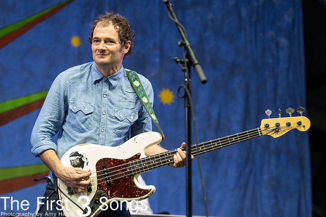 John Stirratt of Wilco performs during the 2015 New Orleans Jazz & Heritage Festival in New Orleans, Louisiana.