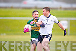 Kerry's Alan Fitzgerald shields the ball from IT Tralee Padraig Og O Se in the McGrath cup at John Mitchels on Sunday.