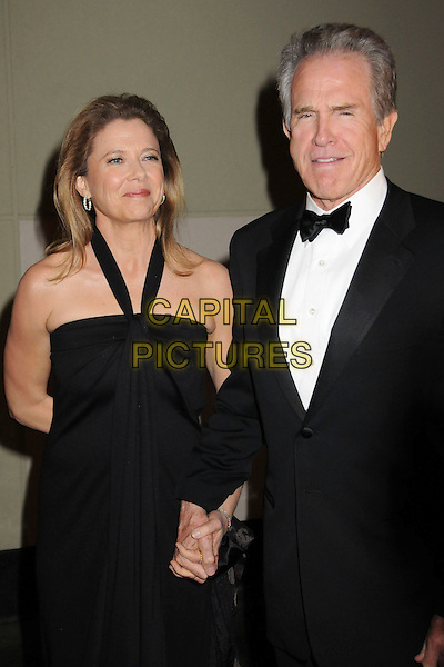 ANNETTE BENNING & WARREN BEATTY.22nd Annual American Society of Cinematographers' Outstanding Achievement Awards at the Hollywood & Highland Ballroom, Hollywood, California, USA,.26 January 2008..half length black halterneck dress tuxedo holding hands couple.CAP/ADM/BP.©Byron Purvis/AdMedia/Capital Pictures.