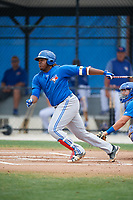 Toronto Blue Jays Vladimir Guerrero Jr. (6) during a Minor League Spring Training Intrasquad game on March 31, 2018 at Englebert Complex in Dunedin, Florida.  (Mike Janes/Four Seam Images)