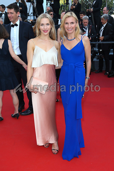 """24 May 2017 - Cannes, France - Julia Dietze with guest . """"The Beguiled"""" Premiere during the 70th Cannes Film Festival. Photo Credit: GeorgWenzel/face to face/AdMedia"""