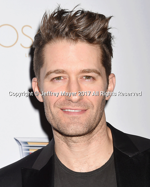 LOS ANGELES, CA - FEBRUARY 23: Actor Matthew Morrison attends Cadillac's 89th annual Academy Awards celebration at Chateau Marmont on February 23, 2017 in Los Angeles, California.