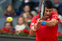 Serbian Novak Djokovic during  TPA Finals Mutua Madrid Open Tennis 2016 in Madrid, May 08, 2016. (ALTERPHOTOS/BorjaB.Hojas) /NortePhoto.com