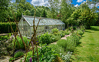 A greenhouse in a garden, Chipping, Lancashire.