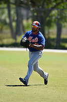 New York Mets Stefan Sabol (48) during practice before a minor league spring training game against the Miami Marlins on March 30, 2015 at the Roger Dean Complex in Jupiter, Florida.  (Mike Janes/Four Seam Images)